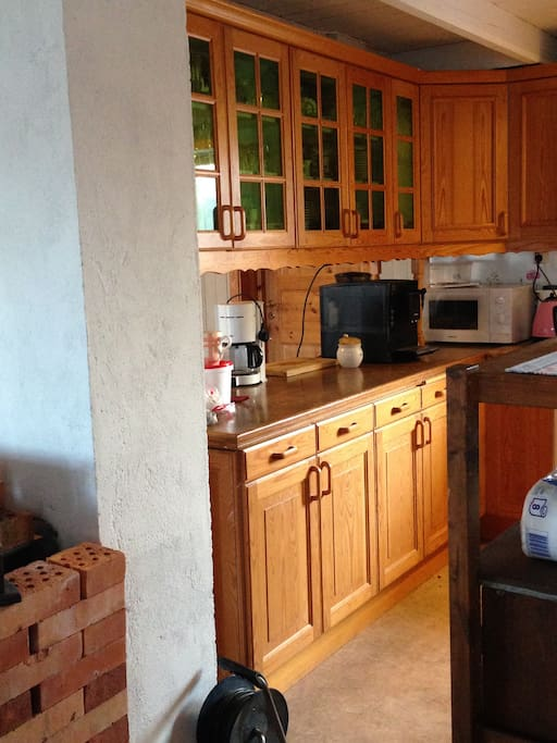 A part of the kitchen