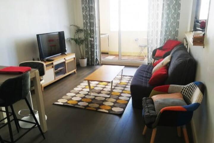 Appartement T3 exposé plein sud