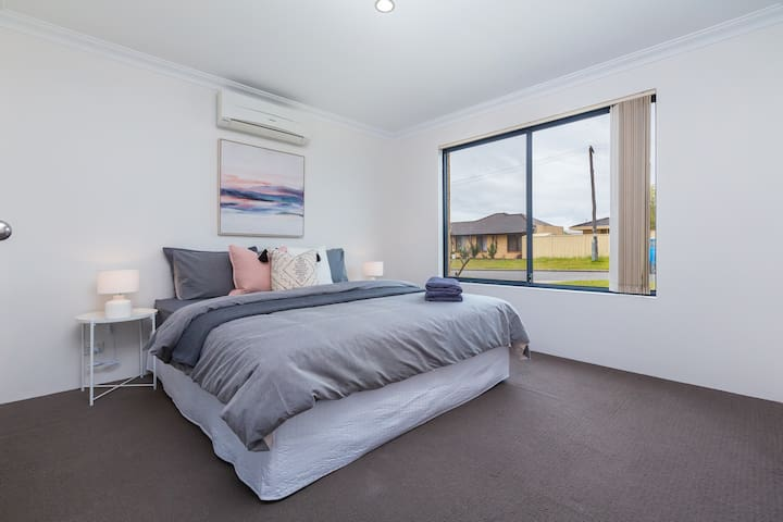 The main bedroom - located at the front of the property!