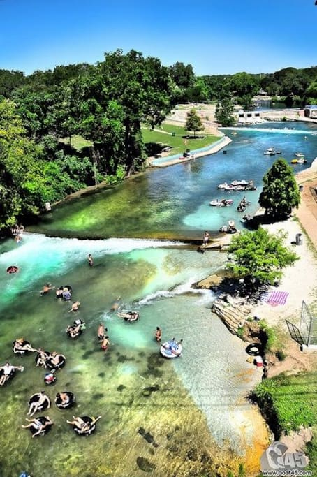New Braunfels is a favorite destination for all types of fun, including tubing the Comal River