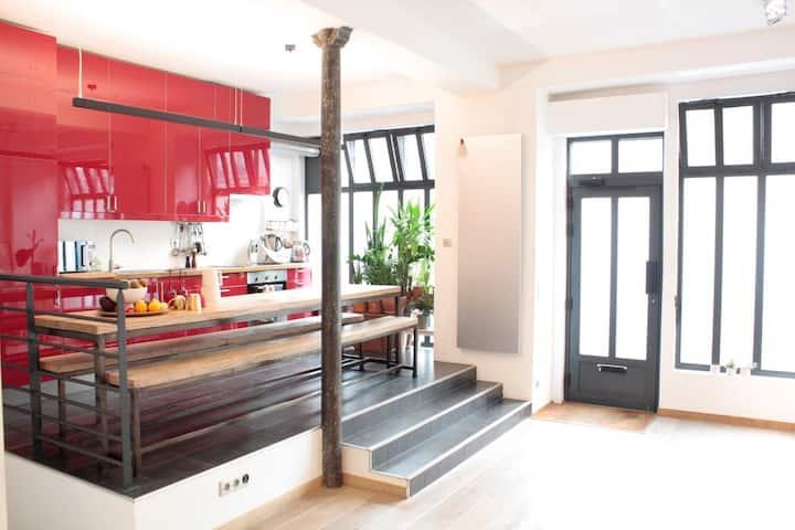 Modern 90 square meters LOFT Near Montmartre