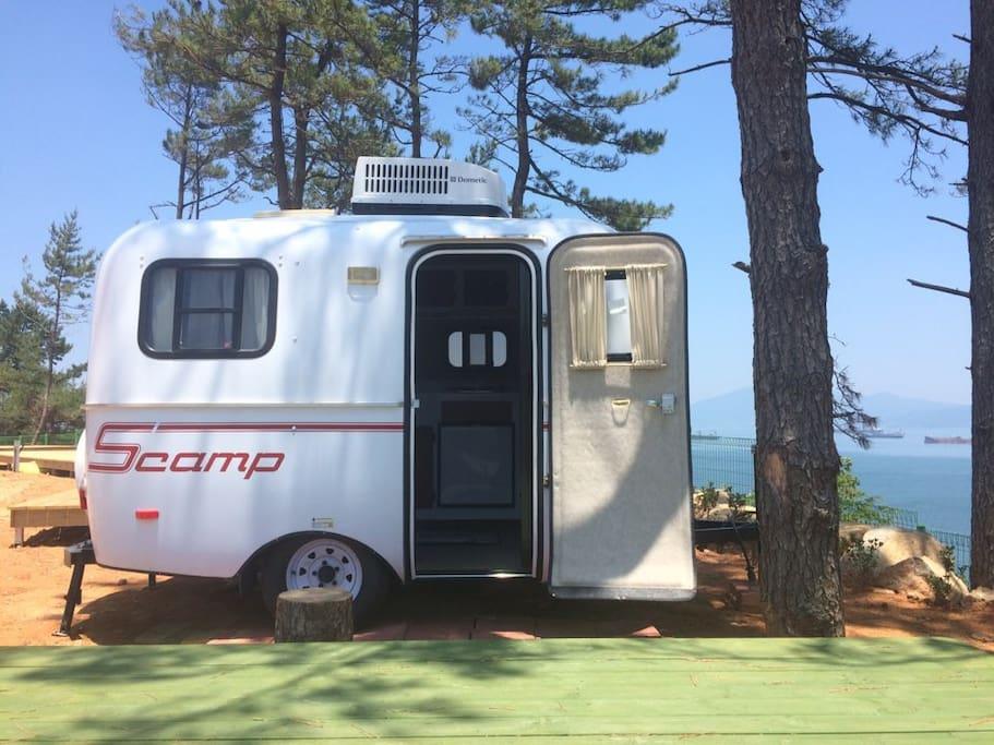 바다 조망 미국전통 스캠프