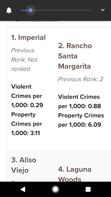 facts about the City of R.S.M 2nd safestcity in the nation.