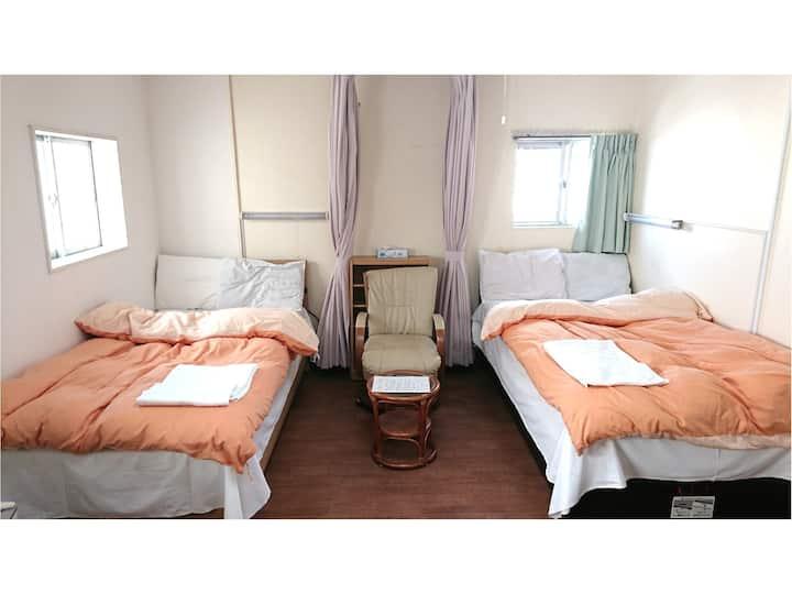 Share room for female    Minsyuku Tatsuya Ryokan