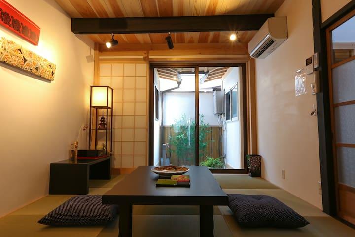 Free Wifi 3mins Gojo Station Luxury Machiya House - Kyōto-shi - Hus