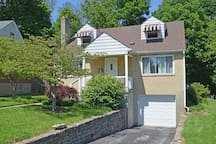 Quiet neighborhood, great for walking or running, playground nearby