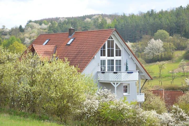 Confortable piso vacacional ubicado en la frontera entre los estados de Baviera, Hesse y Turingia