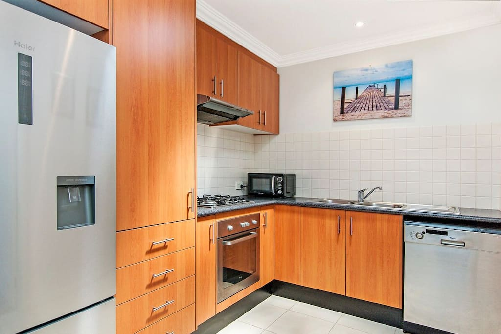 Well appointed kitchen with open plan living and dining