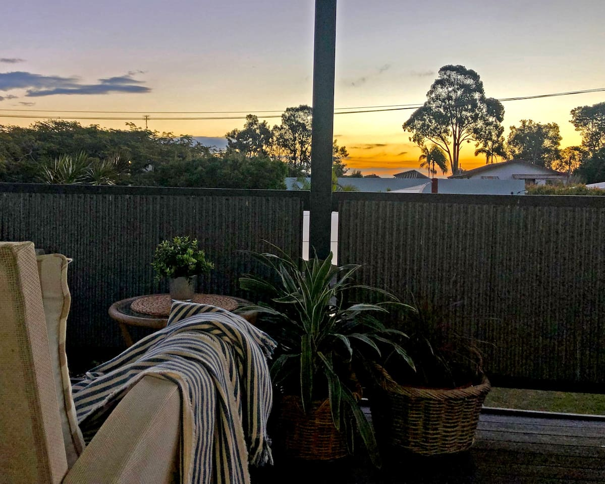 Sit on the front verandah and watch the sunset...