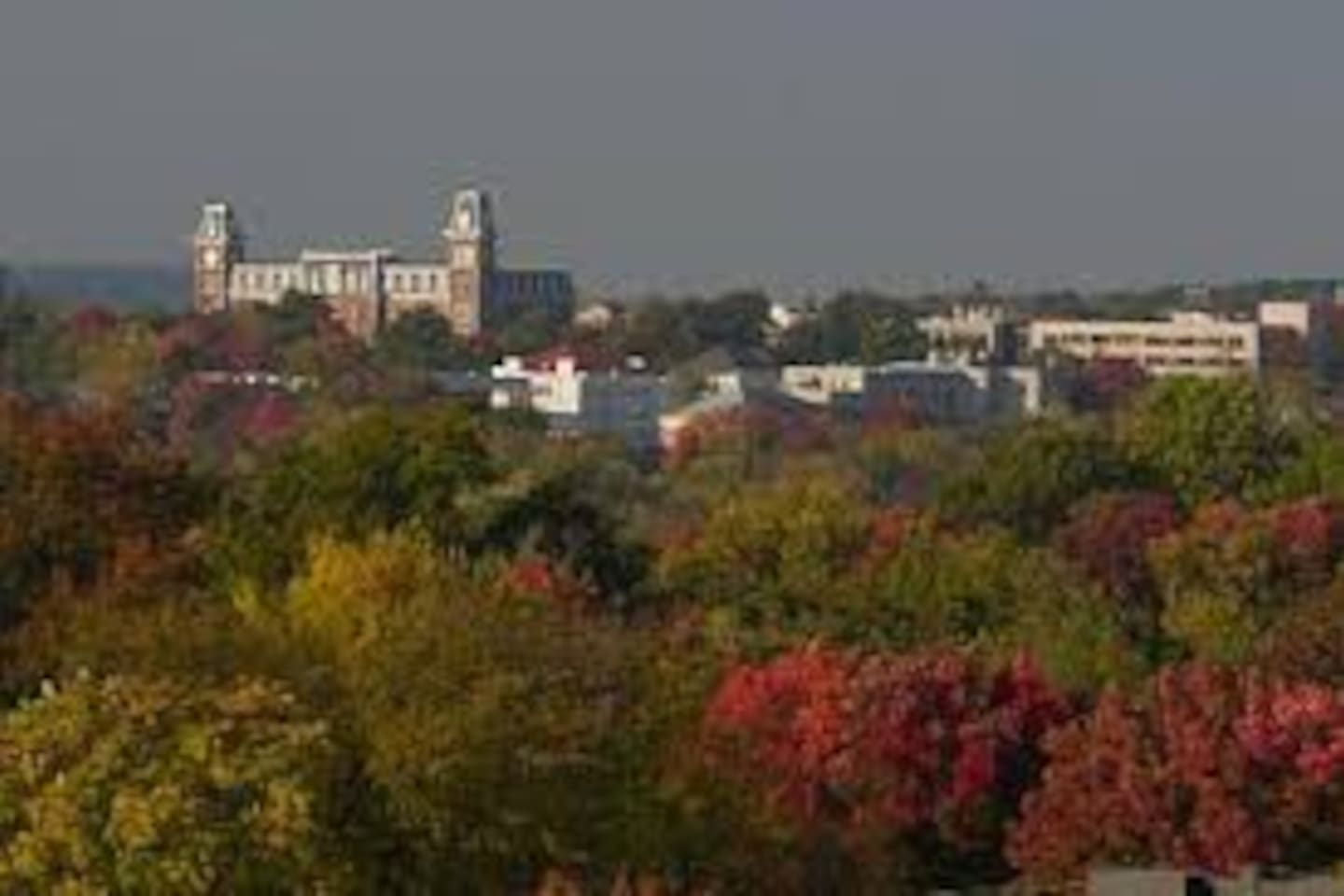 Not a view from the guesthouse, but Fayetteville is beautiful.