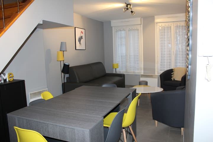 """Le Ch'ti Champenois"" appartement f3 duplex 65m2"