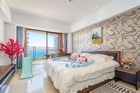 大东海丨悦来时尚海景两室一厅|距海一百米|另有独立单间等可预定|点房东头像查看丨下单先询问是否有房