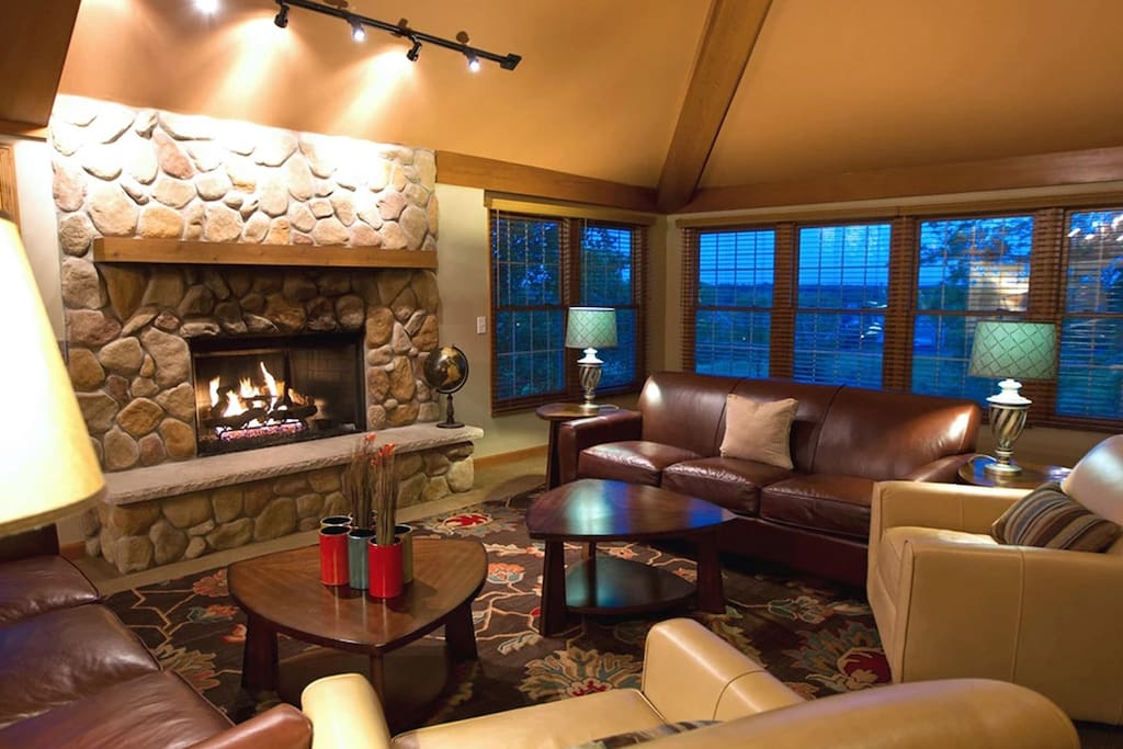 Main Level Great Room with Fireplace