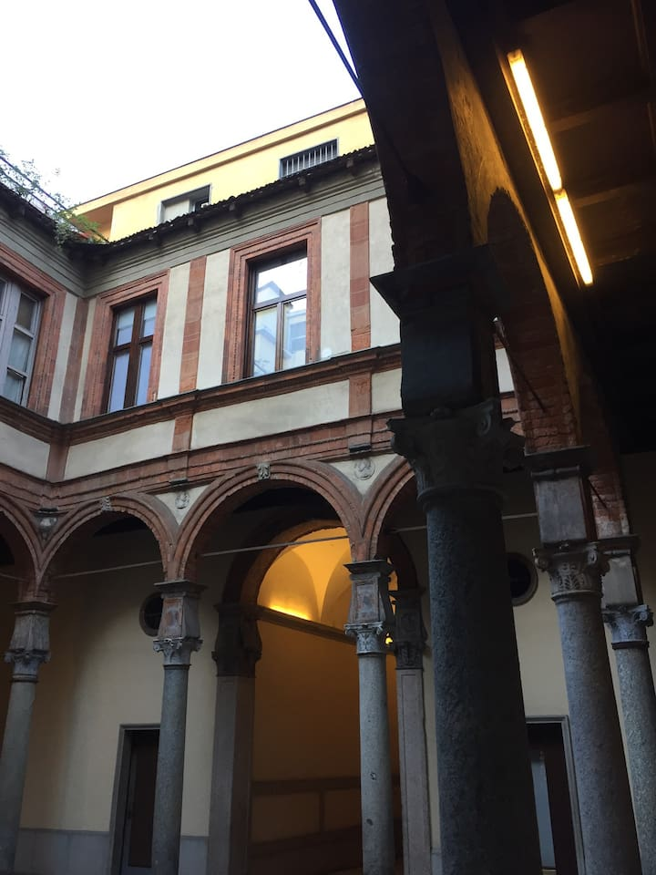Palazzo Pozzobonelli and Bramante's main renaissance courtyard entrance