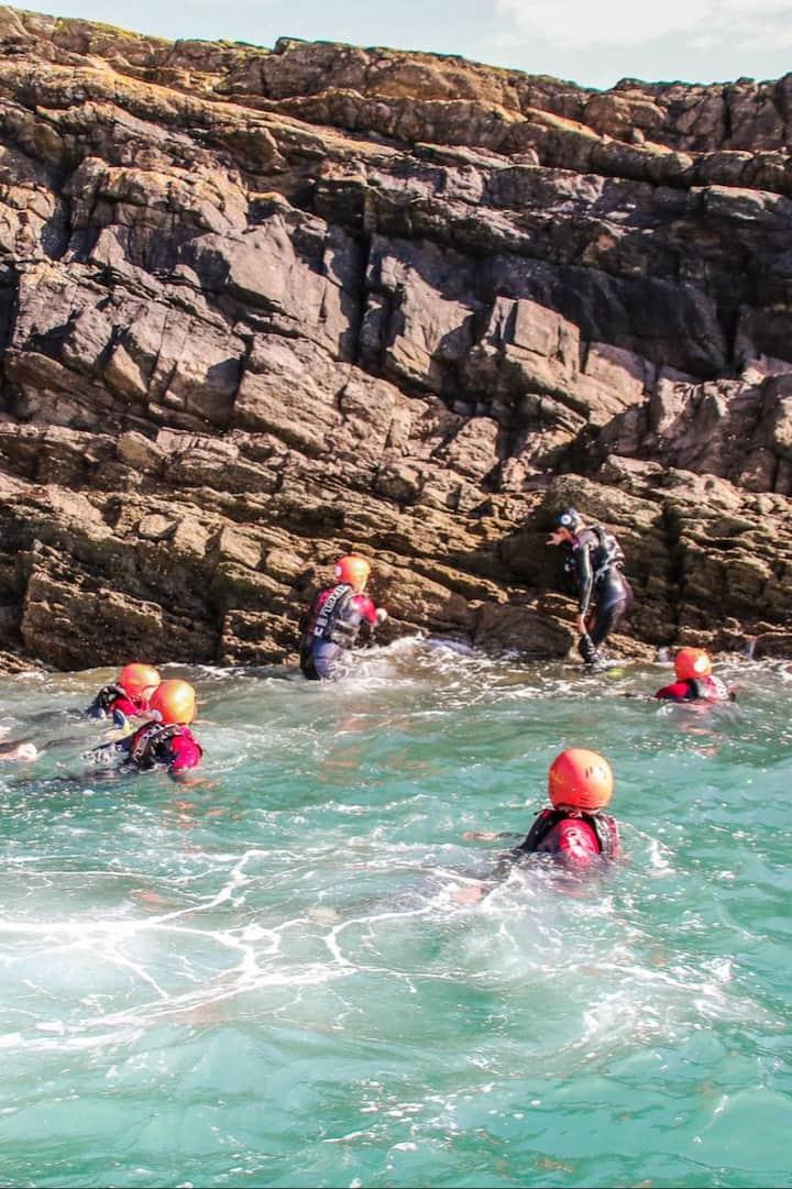 Mixture of swimming & climbing
