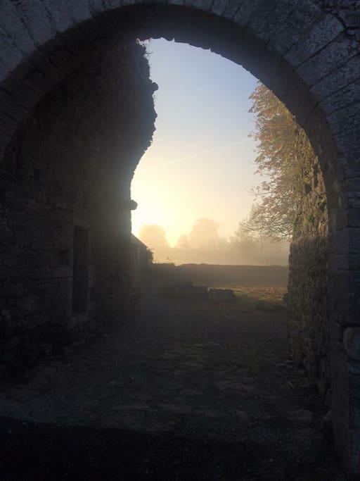 16th Century ruins of Legan Castle