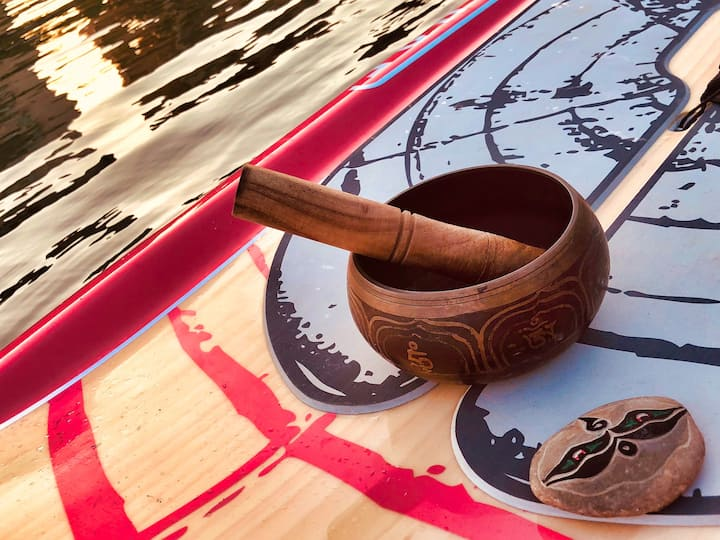 Be soothed by the sound of Tibetan bowl