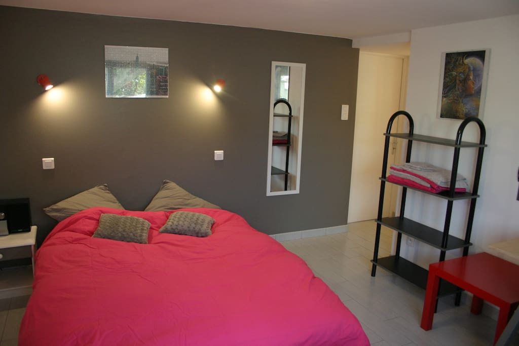 jolie chambre salon avec clic clac au calme houses for rent in montaigu pays de la loire. Black Bedroom Furniture Sets. Home Design Ideas