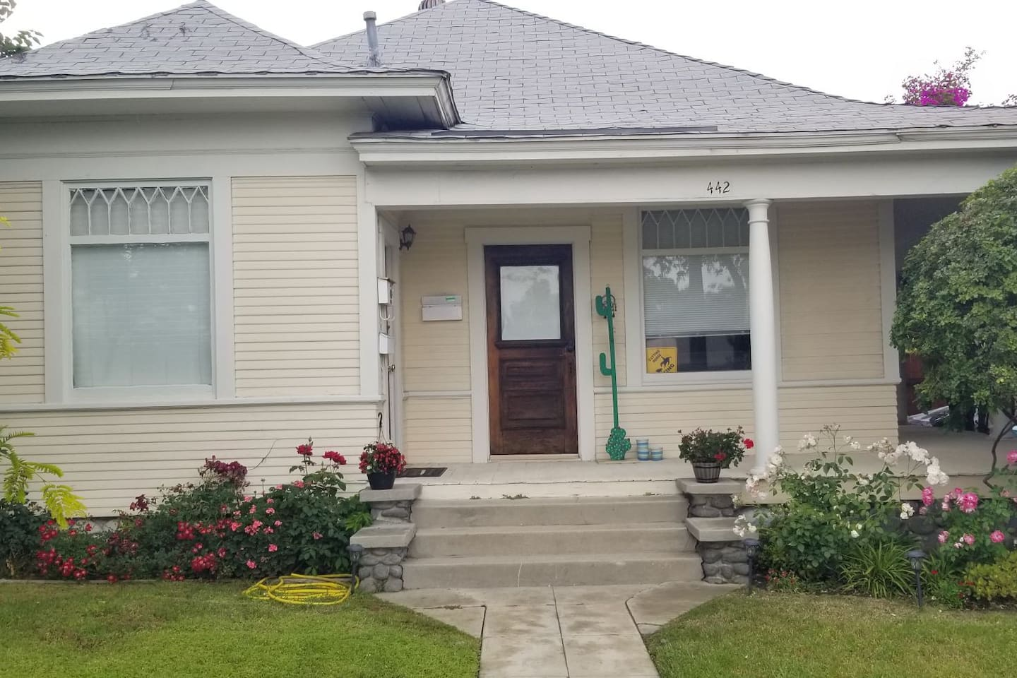 Front of  the cute 1900's bungalow