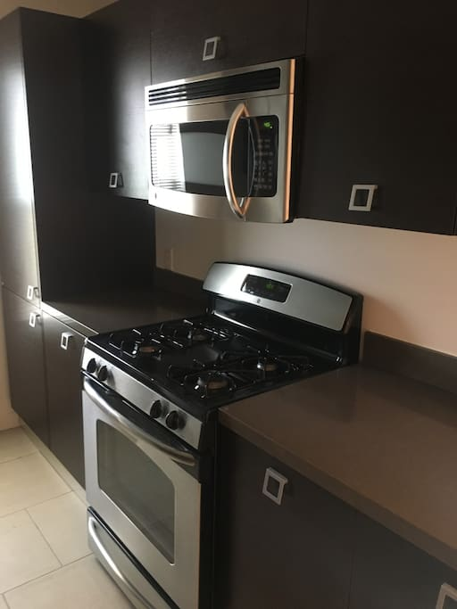 Kitchen with all your needs and stainless steel appliances