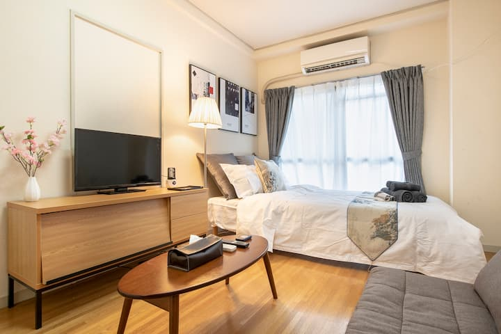 5 min to Asakusa/Cozy room/4ppl/PocketWiFi#202