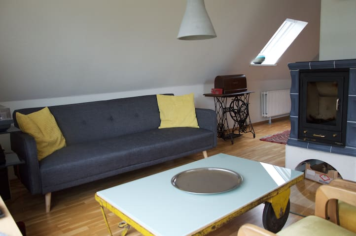 Schöne FeWo mit Kamin an der Eider - Süderstapel - Apartment