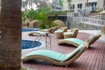 Facilities apartemen, swimming pool  with view golf @ ground floor open air