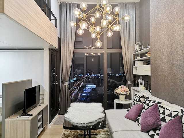 Cozy Loft Duplex,close MrtRama9,Airport link,Asoke
