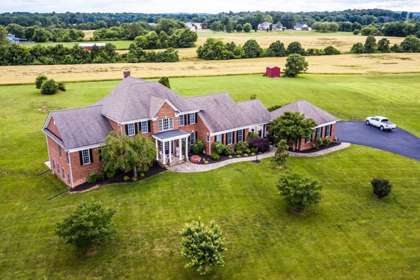 5 acre estate backing up to rolling pastures