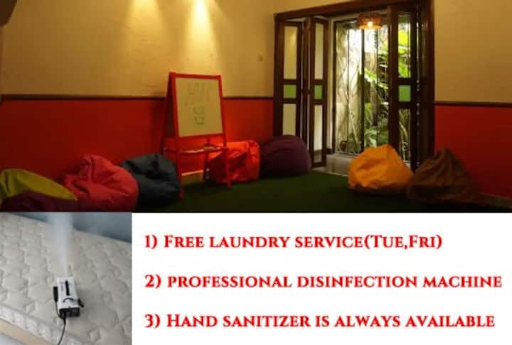 private big room&toilet, AC, Wifi, Free laundry
