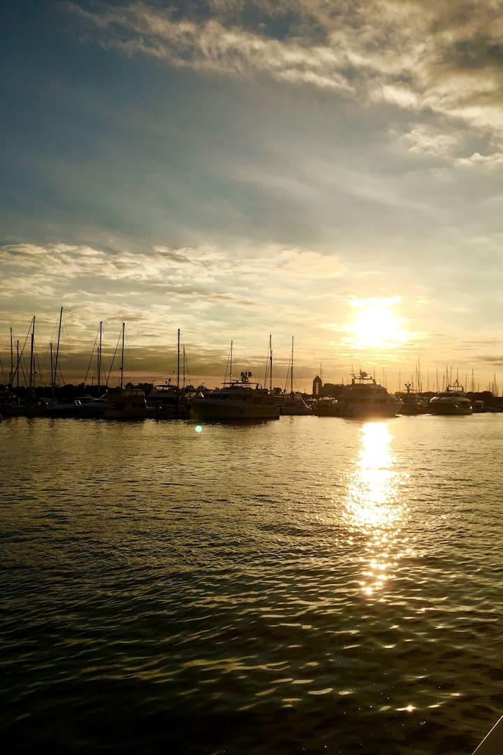 Paulus Hook at Sunset