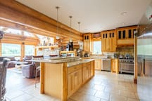 Huge gourmet custom kitchen , a chefs delight