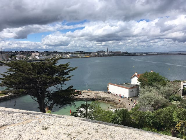 Quiet 1 bed apartment near Sandycove beach