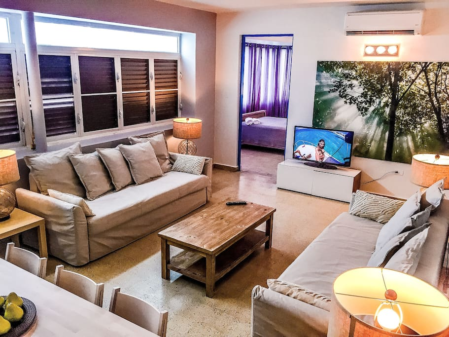 Family Living Area with A/C and Two Full-Sized Sofa-Beds