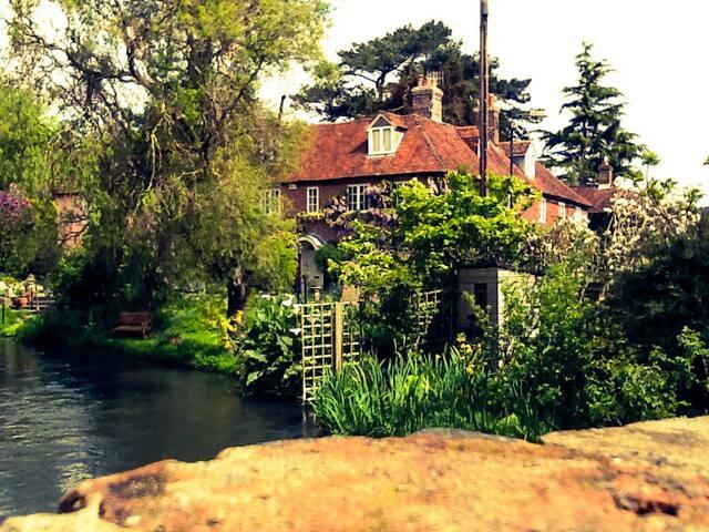 The river Nadder runs through my garden.