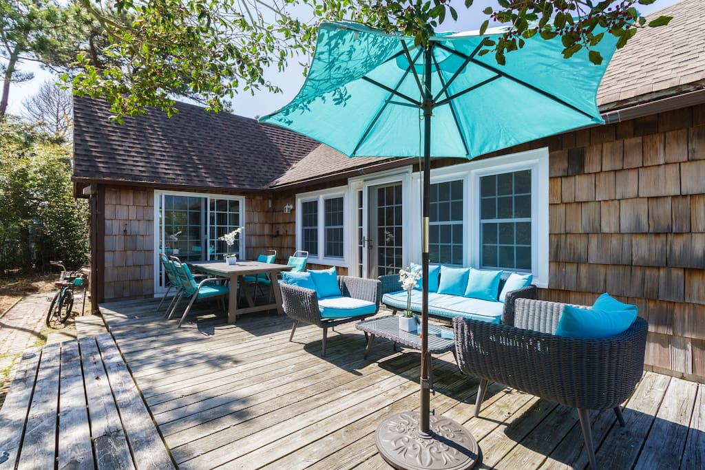 With this extremely private deck and modern home, this Ocean Bay Park retreat is ready for your vacation!