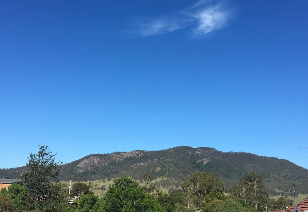 The Mograni ranges view from the deck