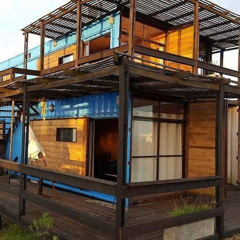 Pretty recycled tiny home, with a wonderfull views - Punta del Diablo - Apartment