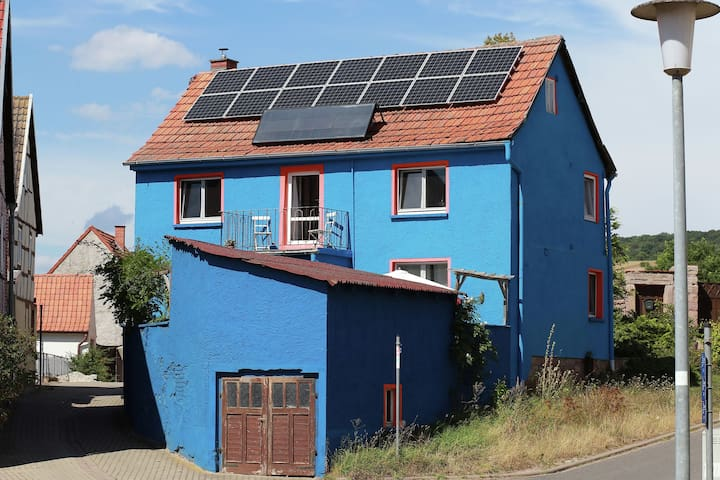 Mediterraan huis met terras en kruidentuin in het Kyffhäuserland