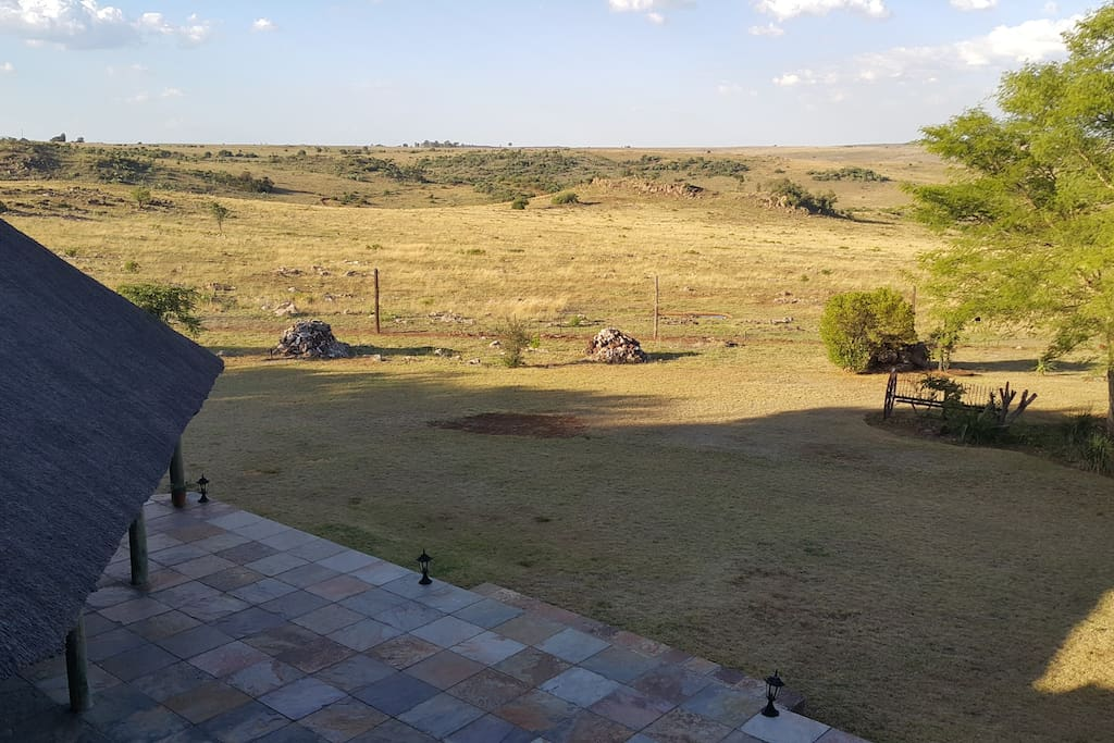 Stunning views over the bushveld.