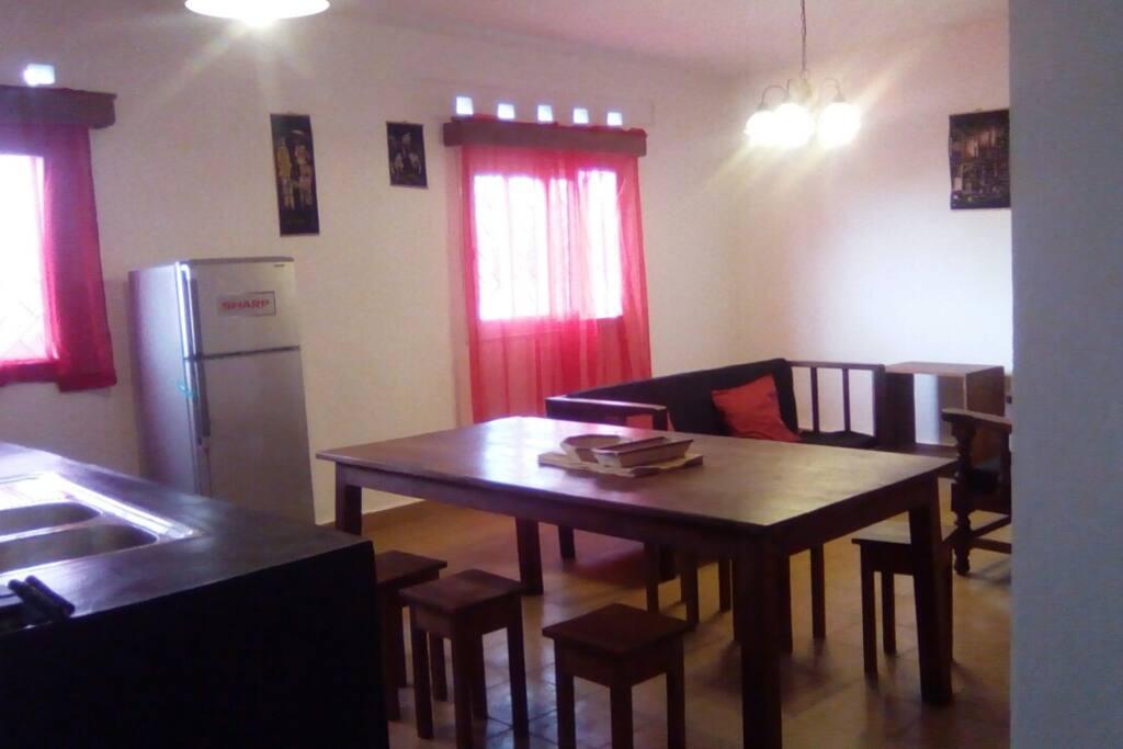 Shared kitchen, dinning room