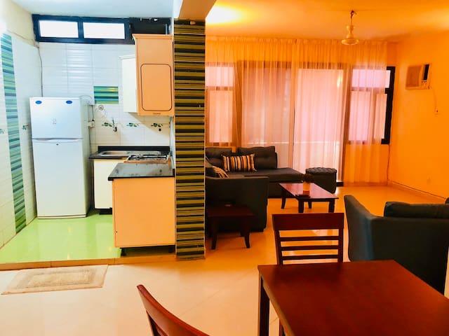 A quaint, first floor one bedroom apartment