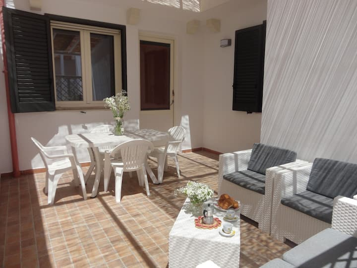 Air-Conditioned Apartment In Central Location Close to Beaches with Terrace; Pets Allowed, Street Parking Available
