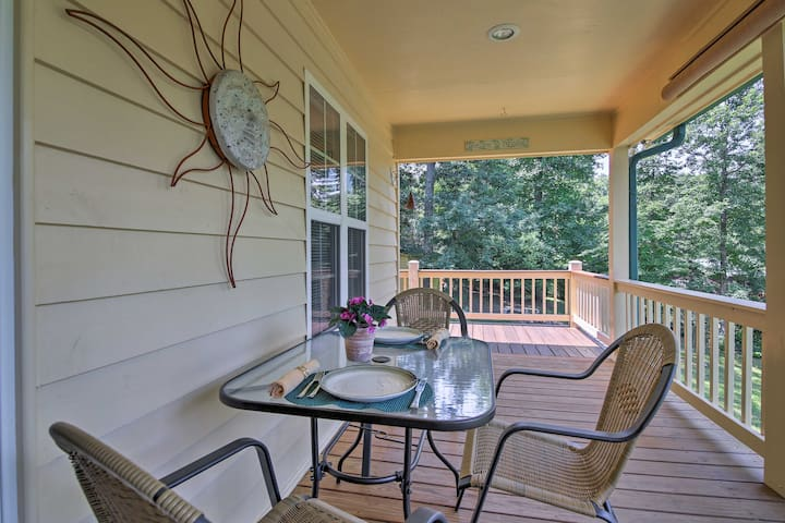 """""""The Suite"""" sleeps 3 and has a deck and access to a shared game room."""