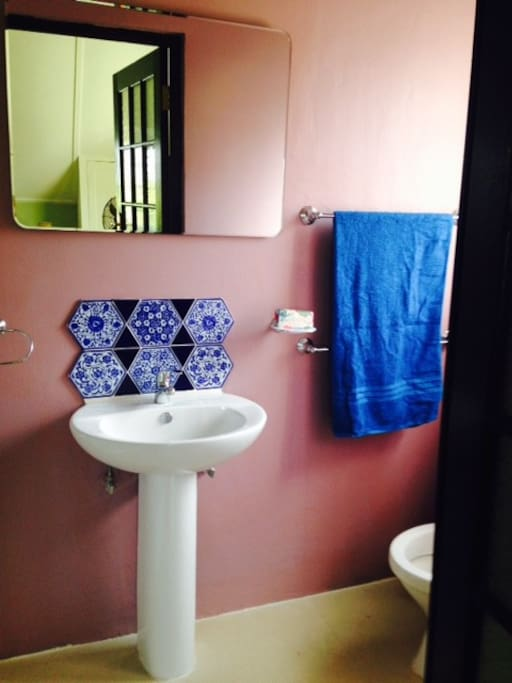 Ensuite Bathroom with basin,WC and walk in shower.