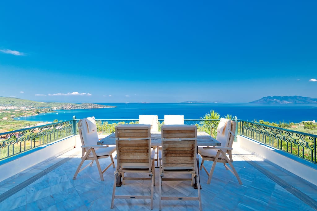 Great views from all parts of the Villa