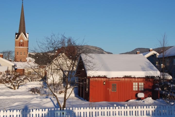 Koselig gjestehus med hage sentralt på Lillehammer