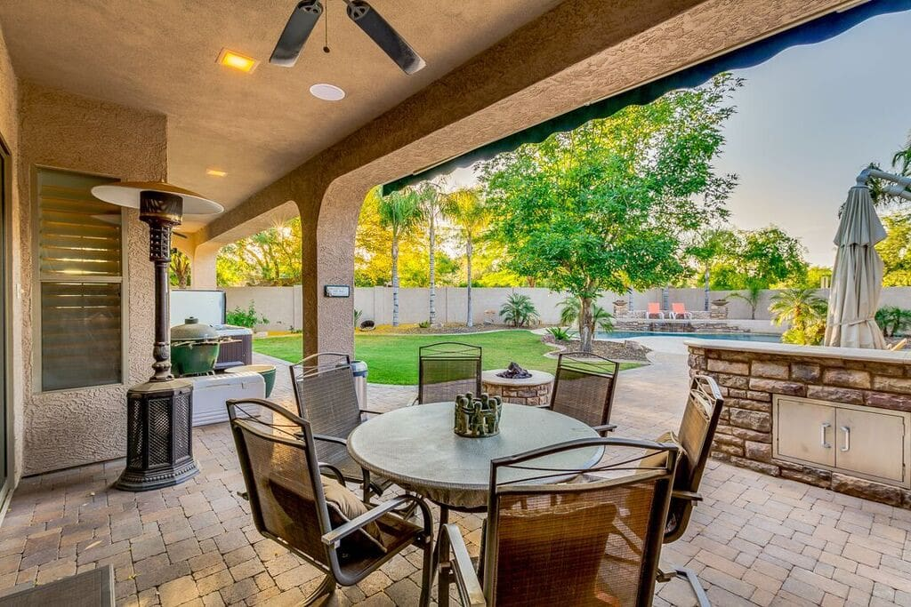 Backyard Patio with built in kitchen