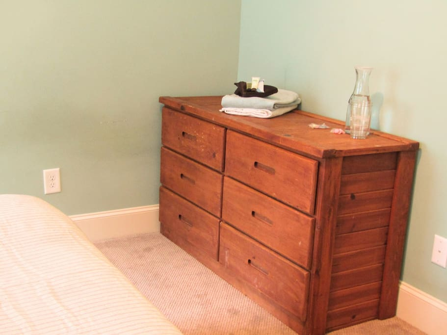 large dresser, perfect for longer stays
