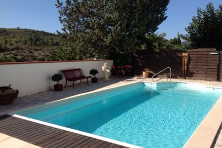 Stunning villa in Paziols, heated pool & fab views - Paziols - Vila